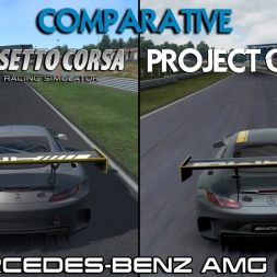 Project CARS Vs Assetto Corsa - Mercedes AMG GT3 @ Brands Hatch (comparative)
