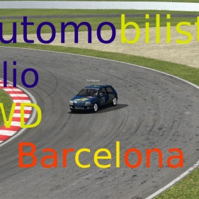 Automobilista // Williams Clio 4WD // Barcelone National // Tout en glissade