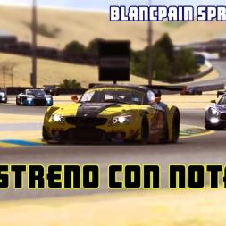 iRacing | Estreno con nota (BMW Z4 GT3 @ Sonoma) Blancpain Sprint Series