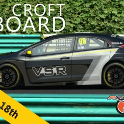 rFactor2 | Simracing PRO | Honda Civic Challenge | Croft Circuit R1 | Balazs Toldi OnBoard