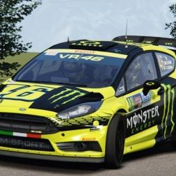 Assetto Corsa: Rally Legends Mod - Fiesta WRC VR46 @ Trento-Bondone