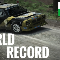 DiRT Rally - World Record - Ffrm Wynt Reverse - 2.44.076 - Group B - Lancia Delta S4 - Xbox One