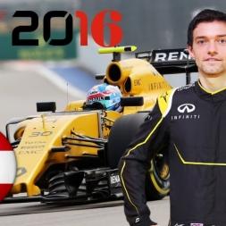 F1 2016 Austrian GP Jolyon Palmer Season