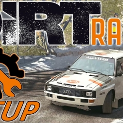 DiRT Rally Top 100 w/ Controller - Audi Quattro - Mods - Setup Sunday