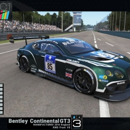 Project CARS: Bentley Continental GT3 @Monza GP - preview & test lap (Racing Icons Car Pack)