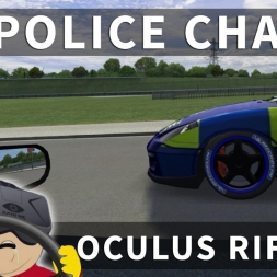 Sim Racing Police Chase in VR - [Oculus Rift CV1 + T300RS]