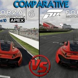 Forza 6 Apex (Beta PC) Vs Forza 6 Xbox - Mclaren P1 @ Brands Hatch