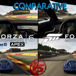 Forza 6 Apex (Beta PC) Vs Forza 6 Xbox - Ford Gt 2017 @ Spa Francorchamps - Graphics & sounds