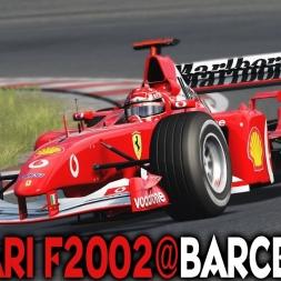 Assetto Corsa : Ferrari F2002 @ Barcelnoa