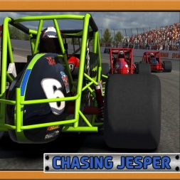 """iRacing: Chasing Jesper"" (Sprint Cars at New Hampshire Motor Speedway)"