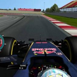 rFactor F1 2016 - Carlos Sainz Jr. Onboard in Catalunya