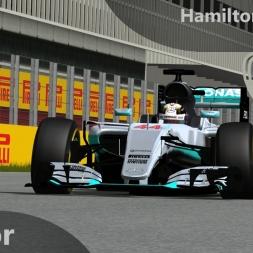rFactor F1 2016 Hamilton Onboard Barcelona