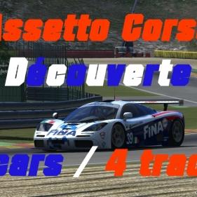 Assetto Corsa // Découverte // 5 cars // 4tracks