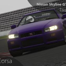 Assetto Corsa Nissan Skyline GTR R34 V-Spec vs Tsukuba Circuit (Japanese Pack)