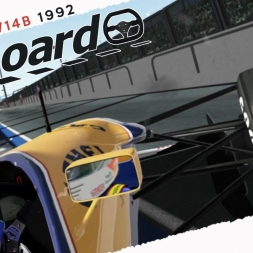 rFactor2 Williams FW14B 1992 Real Onboard Cam at Magny Cours