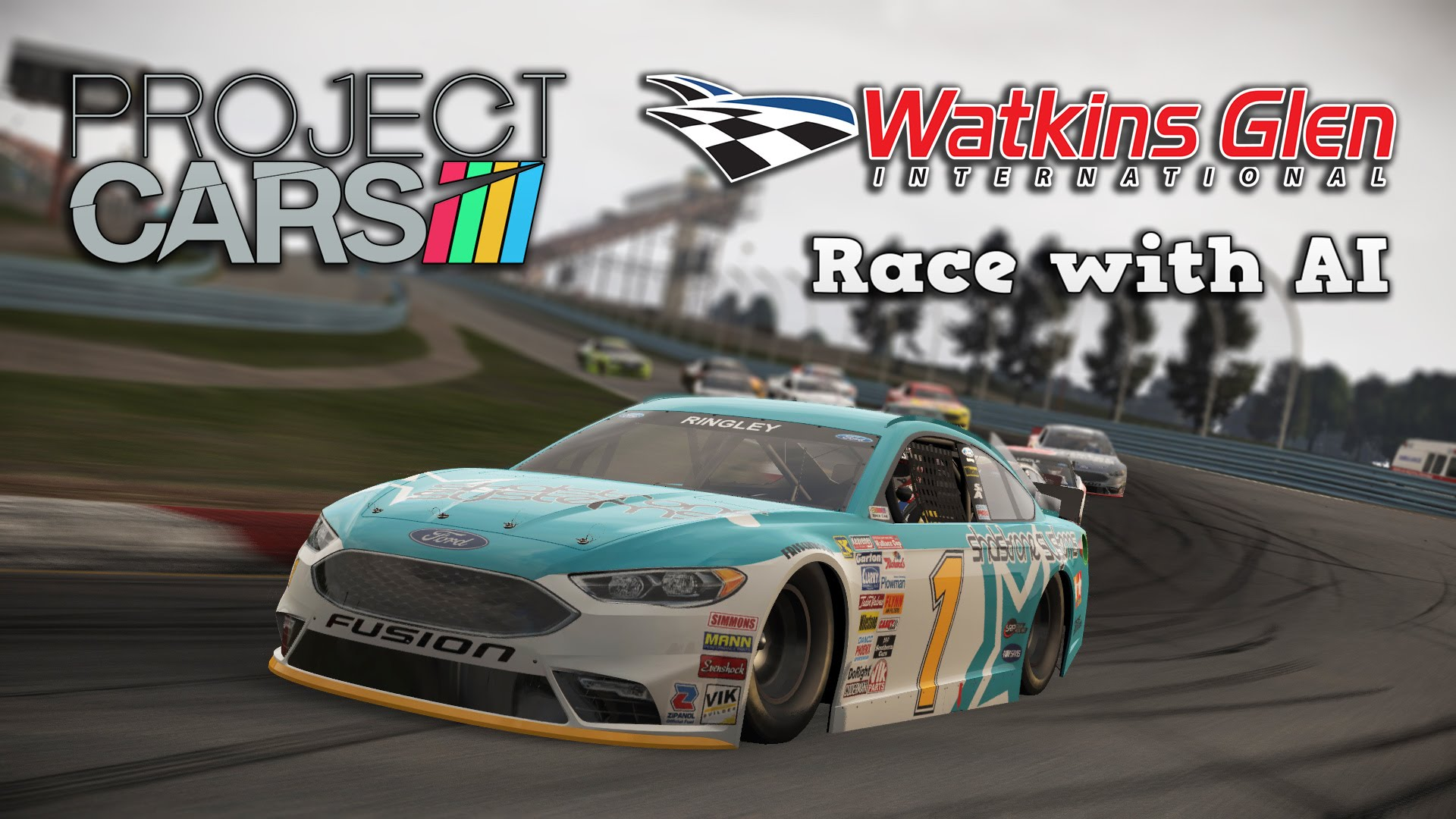 Project CARS | US Race Car Pack | 2016 Ford Fusion Stock Car @ Watkins Glen