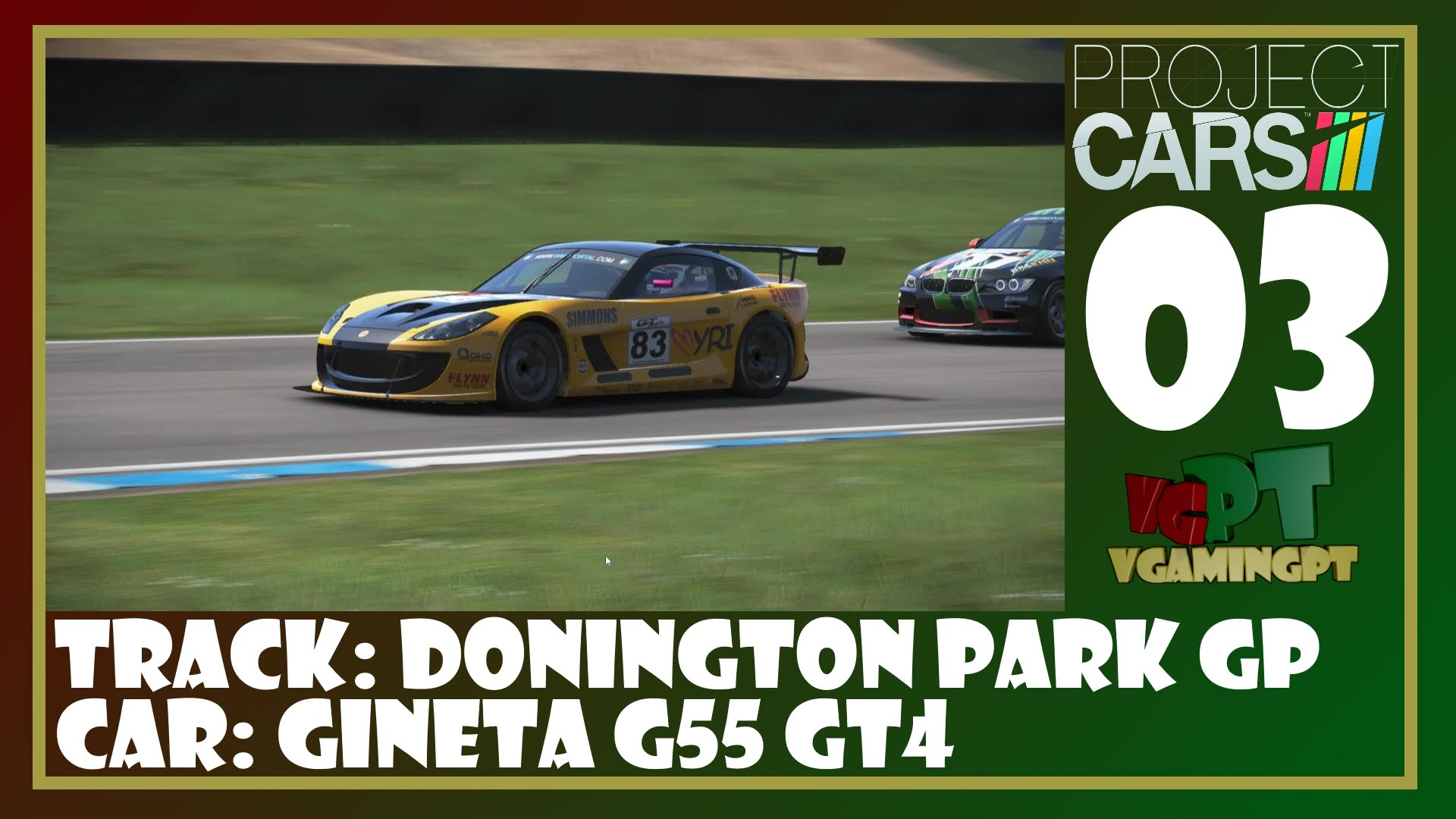 Project Cars - Donington Park GP - Ginetta G55 GT4