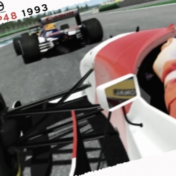 rFactor2 Real Onboard Cam Ayrton Senna McLaren MP48 1993 Race at Hockenheim