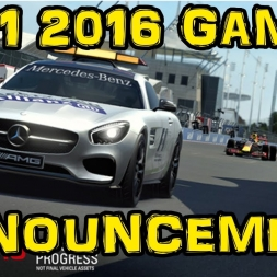 F1 2016 Game Announcement!!!!!!