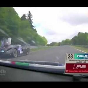 Glickenhaus 24h Nuerburgring Nordschleife 2016 crash