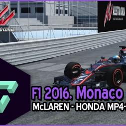 ASSETTO CORSA | F1 2016 | MONACO GP - McLAREN HONDA MP4-30 | - ESPAÑOL HD -