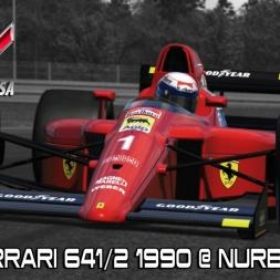 New Ferrari 641/2 1990 @ Nurburgring GP - Assetto Corsa Mods (OpenSimWheel Augury)