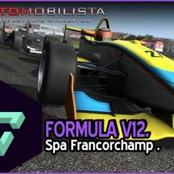 AUTOMOBILISTA | FORMULA V12 | SPA FRANCORCHAMP | SONIDO CELESTIAL | - ESPAÑOL HD -