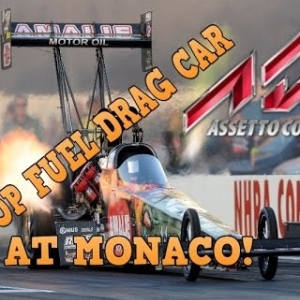 TOP FUEL DRAG CAR ASSETTO CORSA MOD! MONACO?