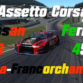 Assetto Corsa // Nissan GTR GT3 vs Ferrari 458 GT2  // Spa-Francorchamps