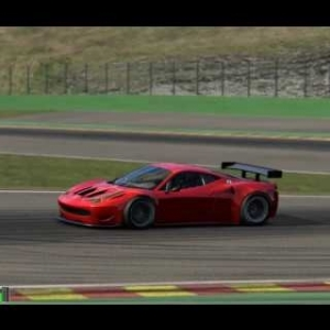 Assetto Corsa Hotlap Ferrari 458 GT2 GP SPA 2:17:501 (download setup)