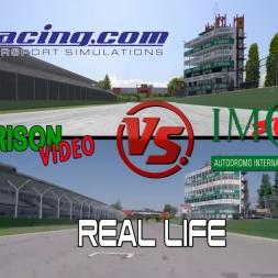 iRacing Vs Real Life - IMOLA (San Marino) - Comparison