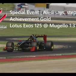 Assetto Corsa | Alesi says, step on it | Achievement Gold | Lotus Exos 125 @ Mugello 1:31:420 min
