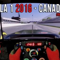Formula 1 2016 Canadian GP - Circuit de Montreal Onboard Virtual lap