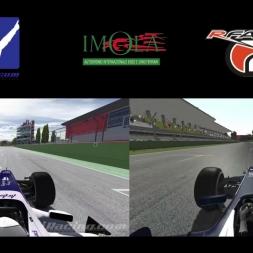 iRacing VS. rFactor 2 @ Imola Circuit Enzo e Dino Ferrari