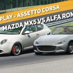 Assetto Corsa - Mazda MX5 vs Alfa Romeo Mito - Spa-Francorchamps