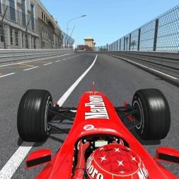 Rfactor 2 F1 2000 mod onboard Montecarlo - Michael Schumacher Pole position lap