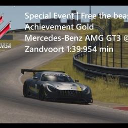 Assetto Corsa Free the beast! Achievement Gold Mercedes-Benz AMG GT3 @ Zandvoort 1:39:954 min