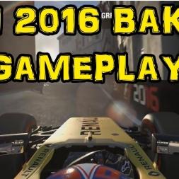 F1 2016 Gameplay - Jolyon Palmer Renault Baku Azerbaijan