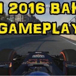 F1 2016 Gameplay - Daniel Ricciardo Red Bull Baku Azerbaijan