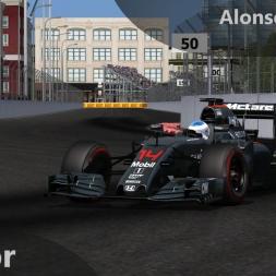rFactor F1 2016 Alonso Onboard Baku