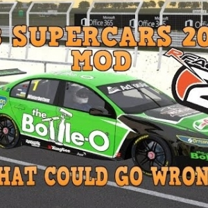 RFACTOR 2, V8 Supercars 2016 Mod, What Can Go Wrong!
