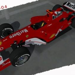 rFactor2 Ferrari F2004 Michael Schumacher Onboard Cam at Silverstone