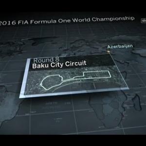 Formula 1 2016 Round 8 Baku Practice 2 Replay