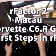 rFactor2 - Macau - Corvette C6.R GT2 - First Steps