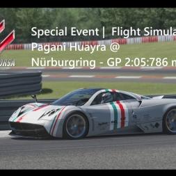 Assetto Corsa | Flight Simulator Achievement Gold | Pagani Huayra @ Nürburgring GP 2:05:786 min