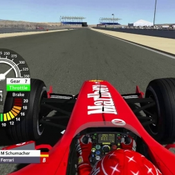 rFactor F1 2004 - Michael Schumacher OnBoard in Bahrain