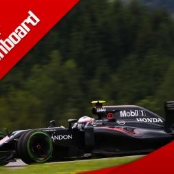 rFactor F1 2016 Onboard McLaren Honda Red Bull Ring/Spielberg