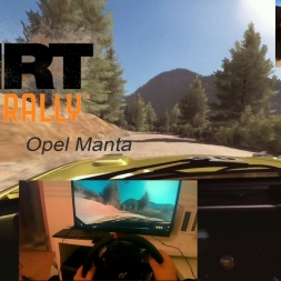 Dirt Rally / Opel Manta / T500rs / ActionCam / POV/ 60 FPS!!