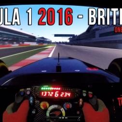 Formula 1 2016 British GP - Circuit de Silverstone Onboard Virtual lap