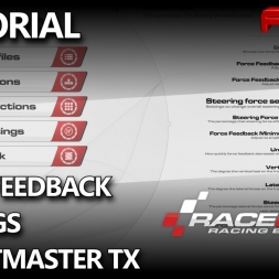 RaceRoom RE | Wheel and Force Feedback Settings for Thrustmaster TX One | New Update 2016